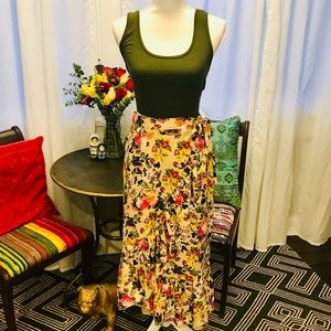 Floral wrap  skirt size 16